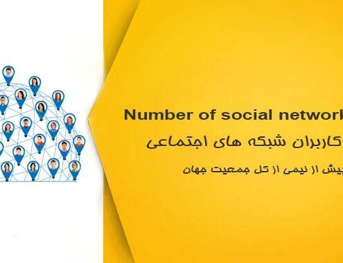 تعداد کاربران شبکه های اجتماعی
